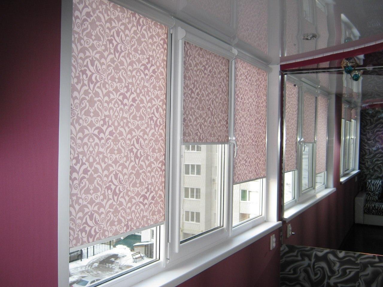 рулонные шторы на пластиковые окна фото цена