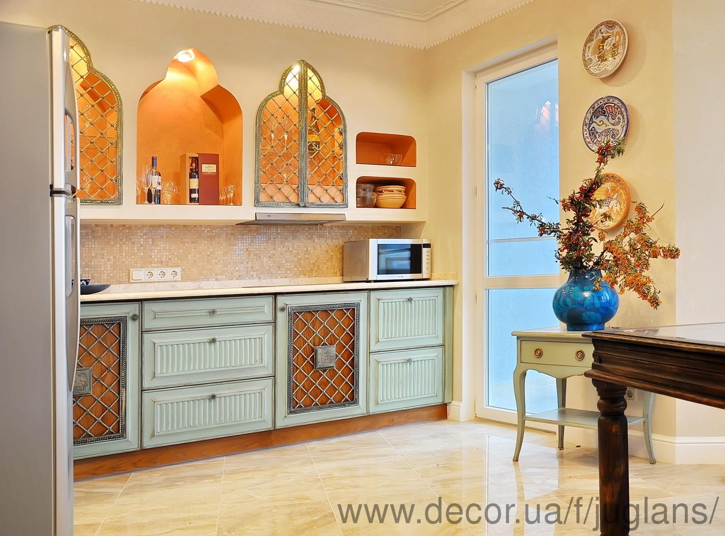 Восточные кухни дизайн фото