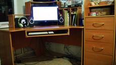 Угловой компьютерный стол (ольха) срочно! Отличное состояние