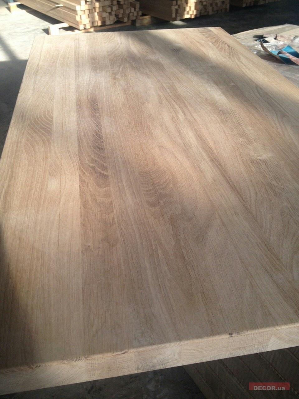Цельноламельный мебельный щит из дуба, купить по цене