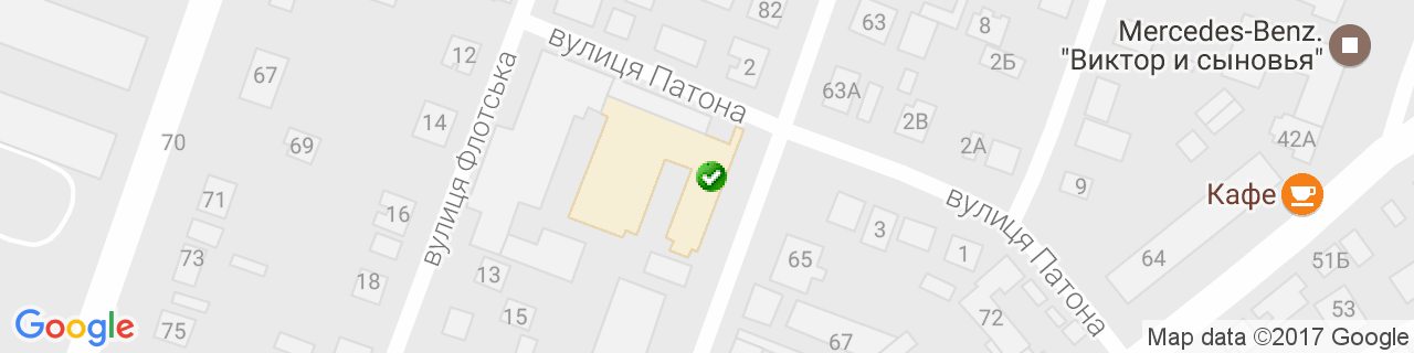 Карта объектов компании E design