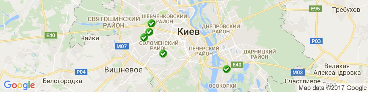 Карта объектов компании Киевский завод стеклоизделий