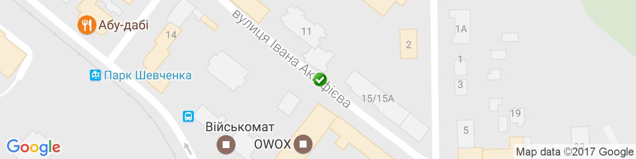 Карта объектов компании MebelSK