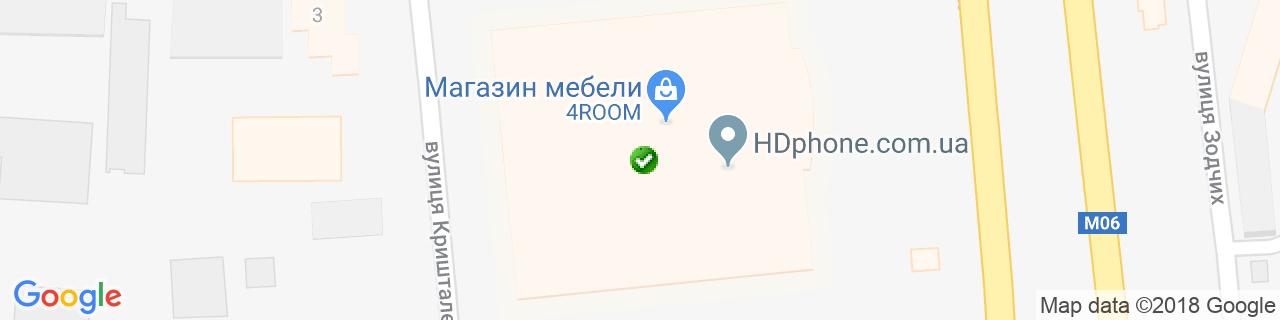 Карта объектов компании Sonata Mobel