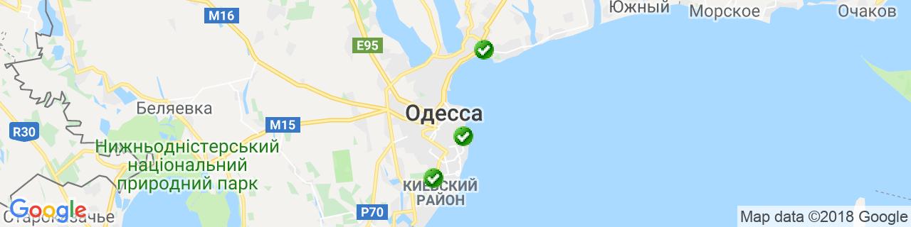 Карта объектов компании Абрикос