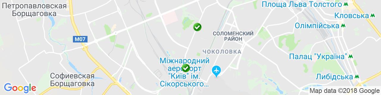 Карта объектов компании Драйвекс