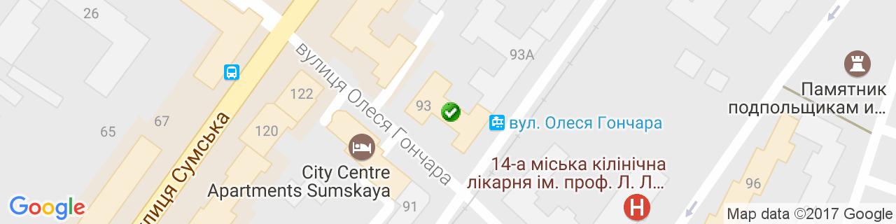Карта объектов компании Эксклюзив-Элит