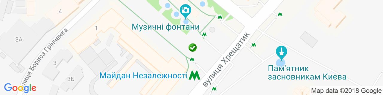 Карта объектов компании КОРОМЫСЛО
