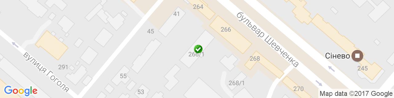 Карта объектов компании Милтек