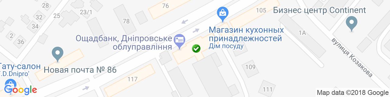 Карта объектов компании V-furniture