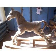 Детская деревянная лошадка на заказ.