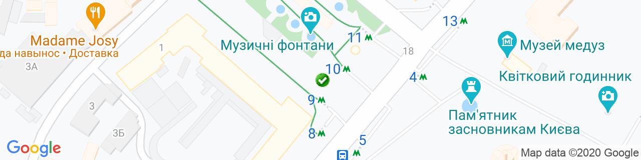 Карта объектов компании Meble